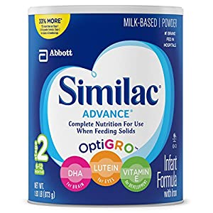 Similac Advance Infant Formula for Stage 2 - 30.8 Ounces Powder (Pack of 4) for Sale