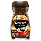 NESCAFÉ CLASSIC NATURAL todo aroma y sabor, café soluble, 100% café, frasco de cristal 200g