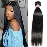 VRBest Hair Brazilian Virgin Hair Straight 1 Bundle 100% Unprocessed 10A Brazilian Straight Bundles Human Hair Weave Bundles Weaving Natural Black Color Remy Hair 22inch(100g)