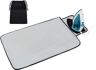Acmebon Tapis de repassage portable avec espace en silicone pour poser le fer à repasser, grande couverture de repassage é...