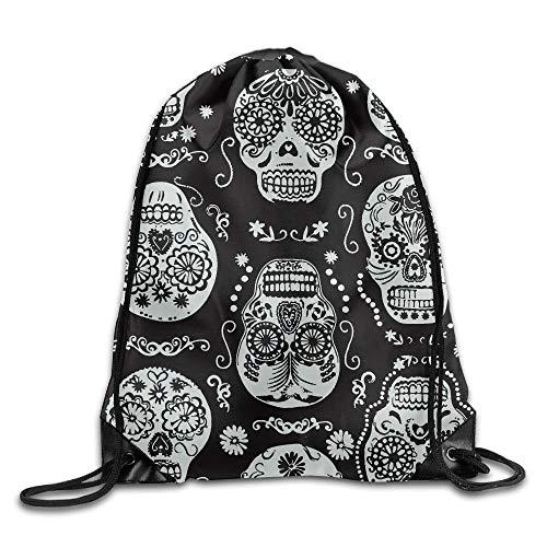 Etryrt Prime Sacs à Cordon,Sac à Dos, Treasures Dark Skulls Unisex Outdoor Gym Sack Bag Travel Drawstring Backpack Bag