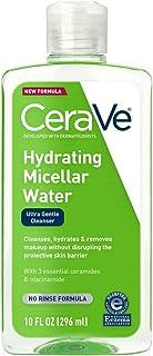 CeraVe Micellar 水新型改良* | 10 液體 Oz. | 保濕潔面乳和眼部卸妝液 透明質酸 | 不含香料,無刺激性