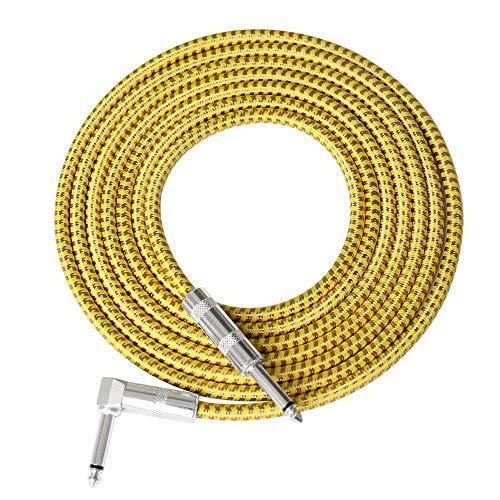 Womdee Cable de Guitarra para Mujer, Serie de Rendimiento, Cables de Instrumentos, Cable de bajo eléctrico Premium para Guitarra eléctrica, bajo, mandolina eléctrica, Pro Audio, 6M