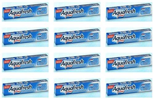 12 x AQUAFRESH Zahnpasta dreifach Schutz Klassische 75 Ml
