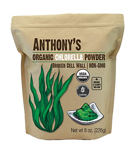 Anthony's Organic Chlorella Powder, 8oz, Non GMO, Gluten Free, Broken Cell Wall