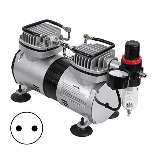 EBTOOLS Mini compresor de aire comprimido, 220-240 V, mini aerógrafo, compresor aerógrafo de 35 l/min, 40 l/min, 220-240 V (220 V)