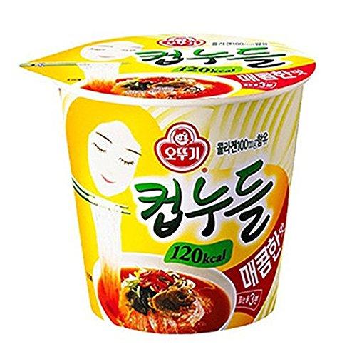 OTTUGI Korean Instant diet ramen low calories 120kcal diet snack,hot soup noodle (Spicy Noodles Flavour, 120kcal X 15pcs)