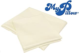 MyPillow Bed Sheet Set 100% Certified Giza Egyptian Long Staple Cotton (King, Ivory)