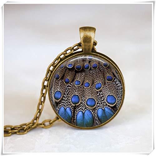 Pfau Schmuck & # •; Bird Halskette & # •; Pfauenfeder Halskette & # •; Glas-Art Halskette
