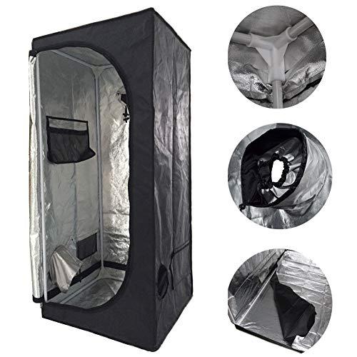 SavingPlus Indoor Grow Light Box Tent Aluminium gevoerde Bud donkere kamer voor Hydroponic Fan 60X60X140CM