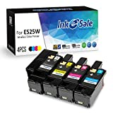 INK E-SALE Compatible Toner Cartridge Replacement for Dell E525W E525 525 (KCMY, 4-Pack), for use with Dell Color Laser E525W Printer