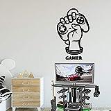 Videojuego extraíble Tatuajes de Pared Dormitorio niños Vinilo Adhesivos para computadora Sala de Estar Arte decoración Cotizaciones 74x74cm