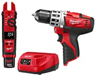 Milwaukee 2207-21P M12 12V Cordless Fork Meter with 2410 Cordless Drill Combo Kit by Milwaukee