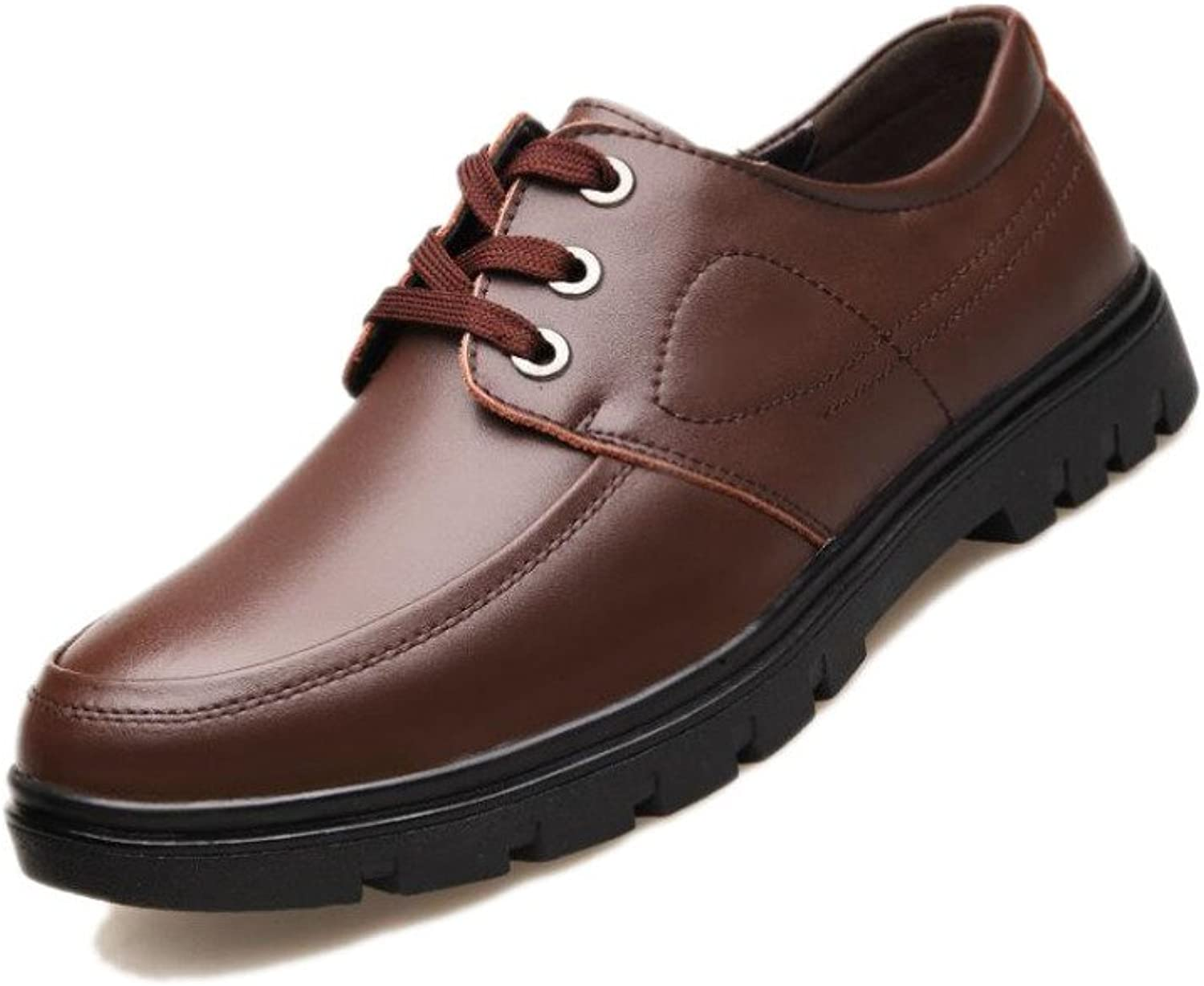 WLFHM Men's Casual Leather shoes, Autumn British Leather Fashion shoes