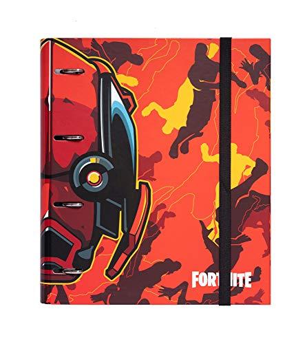 Erik - Archivador de 4 anillas Fortnite, tapa dura, 26 x 32 cm