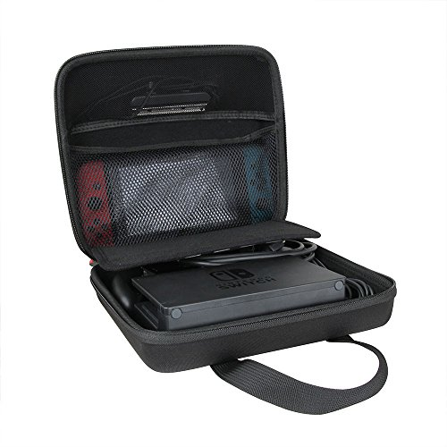 Hermitshell Hard EVA Travel Black Case Fits Nintendo Switch System