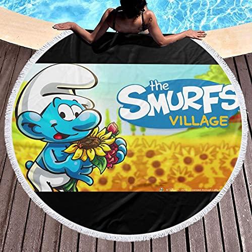 Toalla de baño de The Pitufos, piscina, playa, muy suave y absorbente, de algodón, resistente a la decoloración