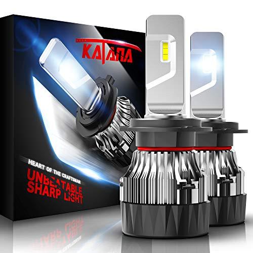 KATANA H7 LED Headlight Bulbs w/Mini Design,10000LM 6500K Cool White CREE Chips All-in-One Conversion Kit