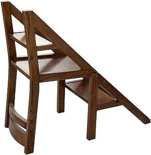 Liujunwangluo Silla de Escalera de Uso doméstico Silla Plegable de Doble Uso, Silla de Escalera
