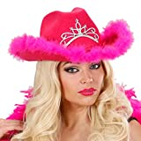 NET TOYS JGA Cowgirl Hut pink Westernhut Cowboyhut Damen Junggesellinnenabschied Accessoires...