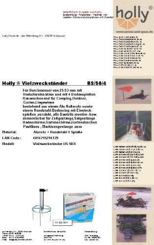 Stabielo Parasol en acier deutschem – – Gazon dorne – 80 µ galvanisé – Brochette sol N ° 50 – Le Stabielo® – Diamètre de l'anneau ø 300 mm – Fixation avec 4 Brochettes sol – Brochette Longueur 20 cm – support de parasol – Holly produits Stabielo® – Beaucoup de butständer avec bague de sol pour fixation de Écran Bâtons à 53 mm Ø – Innovations fabriqué en Allemagne – Holly-Sunshade® – Contenu de bar aussi pour étage Diamètre jusqu'à 25 mm – Voir ASIN – b00gmj s5nw – Prix de – Produits fabriqué en Bade Wurtemberg de