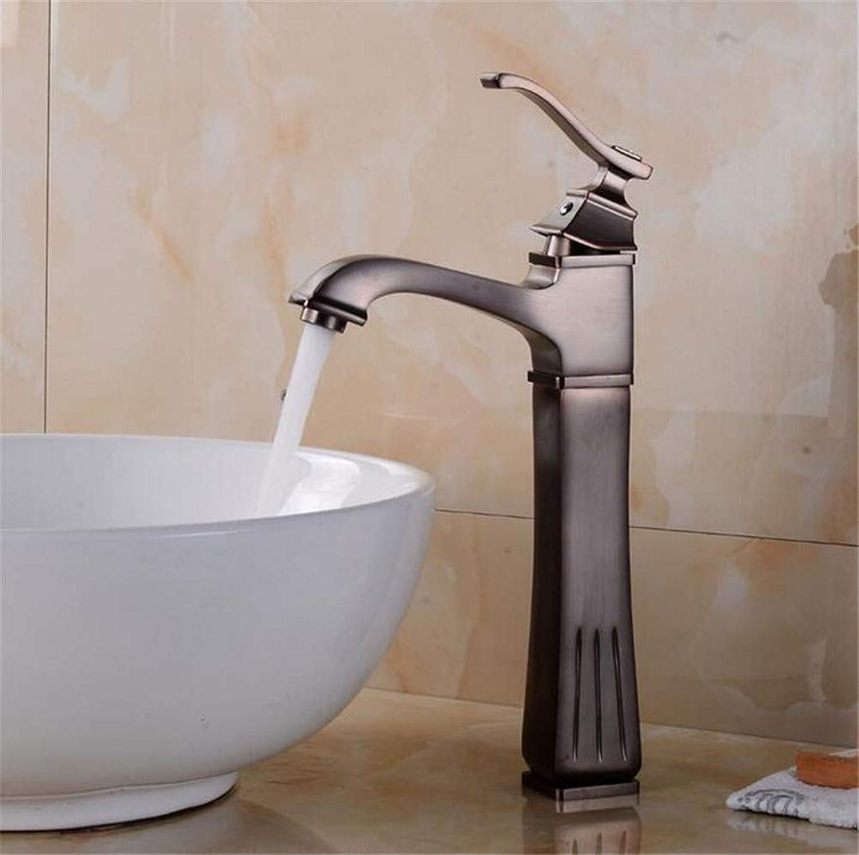 Willsego Wasserhahn Becken Wasserhhne Nickel Gebürstet Waschbecken Mischbatterie Mode-Stil Einhebel Einlochmontage Deck Montiert Kran Badezimmerhahn, B (Farbe   B, Gre   -)