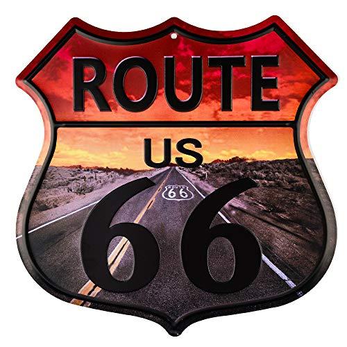 Dojune-Vintage Home Decor Route 66 Highway Shield Señal de metal al por mayor