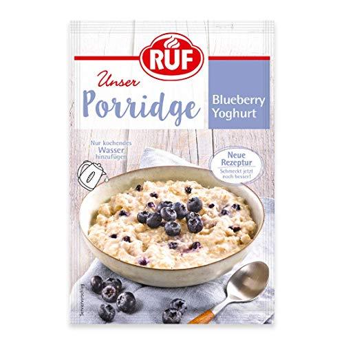 RUF Porridge Blueberry Yoghurt mit Vollkorn-Haferflocken, Blaubeeren und Joghurt, 1 x 65 g