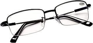 Progressive Multifocus Computer Reading Glasses Blue Light Blocking Titanium Alloy Spring Hinge Multifocal Readers Eyeglasses Anti Glare Eye Strain Light Weight for Men and Women