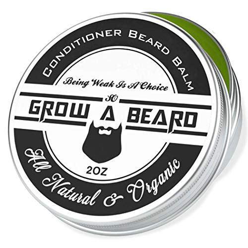 Beard Balm, Beard Balm for Men, All Natural & Organic Leave-in Conditioner, Black Label, 2Oz, Chanel Scent