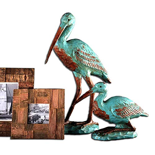 Birds Decorative Model, Partridge Sculpture Retro Nostalgic Classic Painting Birds Animal Statue Resin Crafts Creative Gift Collection