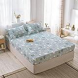 FJMLAY Sábana Bajera clásica,Sábanas de algodón para Cama, Almohadillas Protectoras para Dormitorio Apartments-P_150cmx200cm