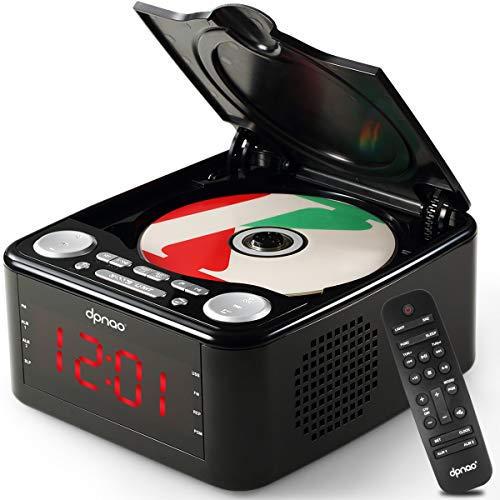 dpnao YW-010 CD Player Clock FM Radio with USB Port (Black)