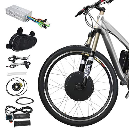 Voilamart E-Bike Conversion Kit 26' Front Wheel 36V 500W Electric Bicycle Conversion Motor Kit with Intelligent Controller and PAS System for Road Bike