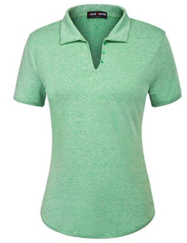 JACK SMITH Women's T-Shirt Tops with Short Sleeves (XXL,Green)