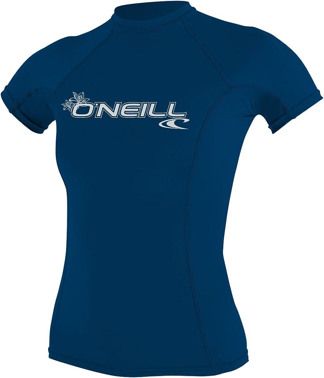 O'Neill Wetsuits Women's O'neill Basic Skins UPF 50+ Short Sleeve Rash Guard