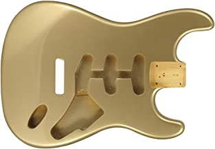 Stat Body, Solid Alder, Beautiful Shoreline Gold, Replacement for Fender Strat #2670