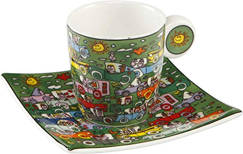 Goebel Crosstown Traffic - Espressotasse Pop Art James Rizzi Bunt Fine Bone China 26102391
