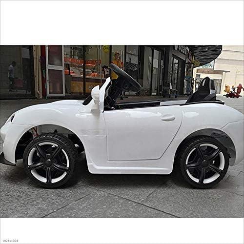 Kinder Elektroauto Vier Rad kann sitzen Fernbedienung Auto Baby Spielzeugauto kann sitzen Menschen Blautooth Fernbedienung (Farbe   Weiß)