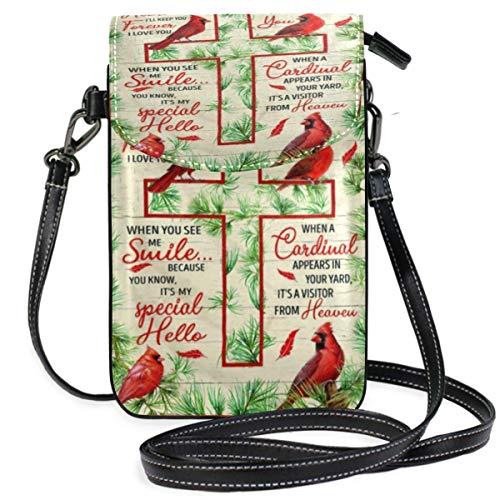 XCNGG bolso del teléfono Cardinal Cell Phone Purse Wallet for Women Girl Small Crossbody Purse Bags
