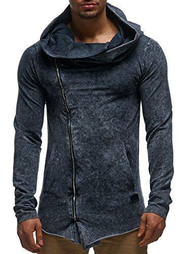 Leif Nelson pour des Hommes Oversize Sweat Hoodie Sweatshirt Mince Veste Pullover Zipper Vintage LN06209 S-XXL; Taille L,