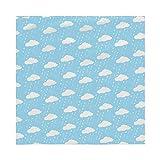 Geizland Protector de cama impermeable lavable y reutilizable para adultos, adultos mayores, niños, niños y niños pequeños, 80 x 110 (nubes y gotas de lluvia)