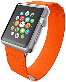 Incipio Smartwatch Replacement Band for Apple Watch 38mm - Orange/Gray Stitching