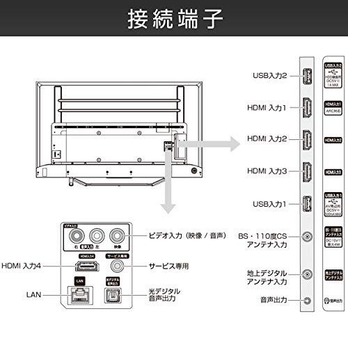 『ハイセンス 50V型 4Kチューナー内蔵 液晶 テレビ 50U7F ネット動画対応 3年保証』の11枚目の画像