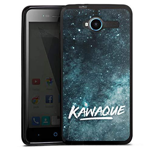 DeinDesign Silikon Hülle kompatibel mit ZTE Blade L3 Case schwarz Handyhülle Kawaque YouTube Galaxie