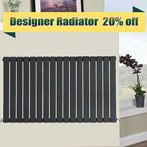 Horizontale zuilradiator antraciet 600 x 1156mm enkele flat panel woonkamer slaapkamer zitkamer warmer verwarming Radiator maar 3706 fit voor UK centrale verwarming systeem