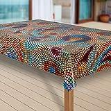 laro Wachstuch-Tischdecke Abwaschbar Garten-Tischdecke Wachstischdecke PVC Plastik-Tischdecken Eckig Meterware Wasserabweisend Abwischbar |14|, Größe:100x140 cm - 3