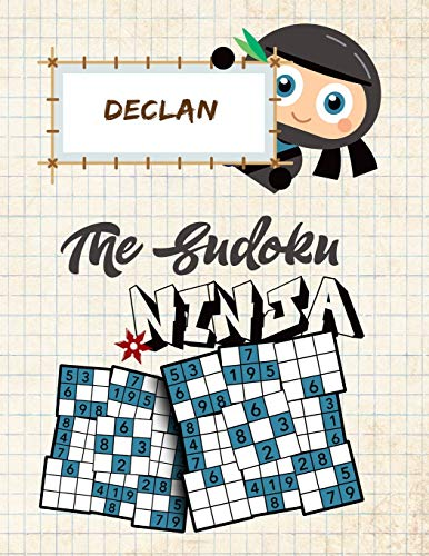 Declan The Sudoku Ninja: Fun Sudoku Puzzle Book Collection for Boys