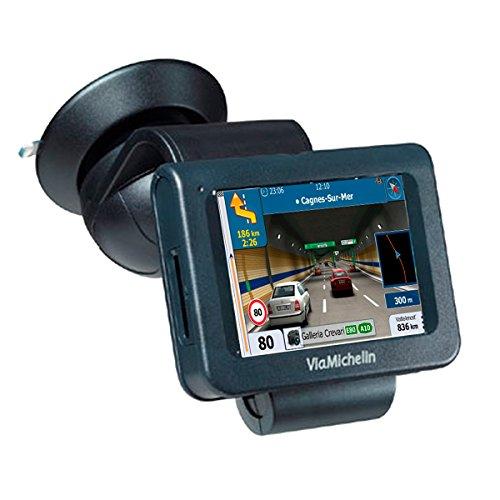 Navegador GPS con Avisador de Radares Actualizable Chip Sirf III Soporte de Ventosa para Cristal