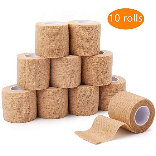 10 Rollen 5 cm * 4,5 m Breedte Familiegebruik Elastoplast Zelfklevend Cohesief Wrap Bandage Waterdicht Flexibel Sport Stretch Tape